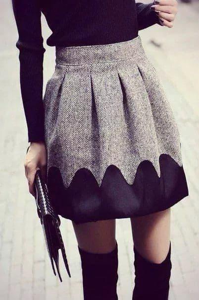 aimer la jupe avec les cuissardes