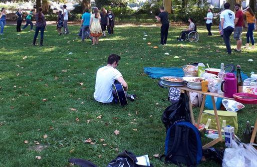 anniversaire dans un parc