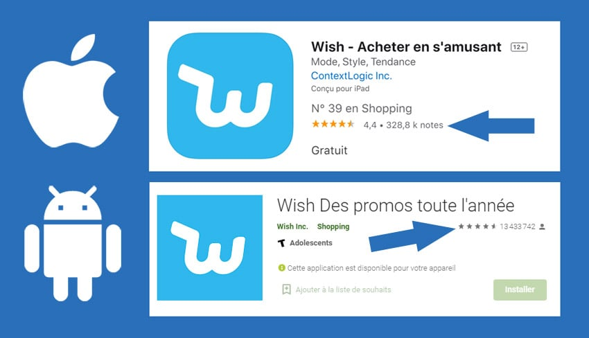 Apple Android avis sur wish