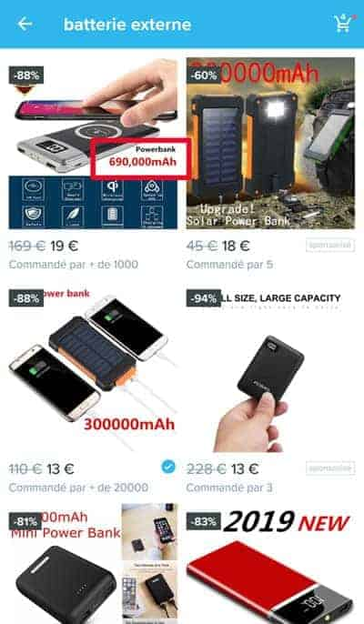 Avis Wish batterie externe