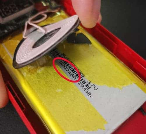 Batterie wish ouverte
