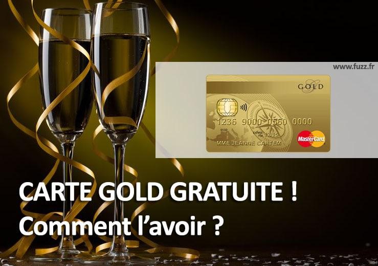 Carte bancaire mastercard gold gratuite