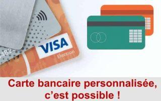 carte bancaire personnalisée banque