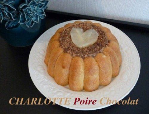 Charlotte à la Poire et au Chocolat