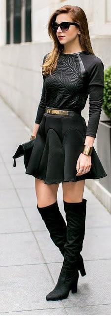 comment porter une jupe avec cuissarde