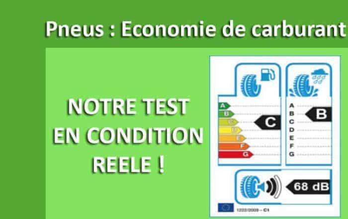 économie carburant pneu