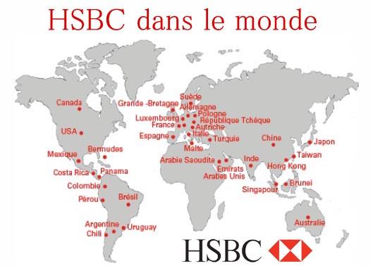 hsbc carte agences dans le monde