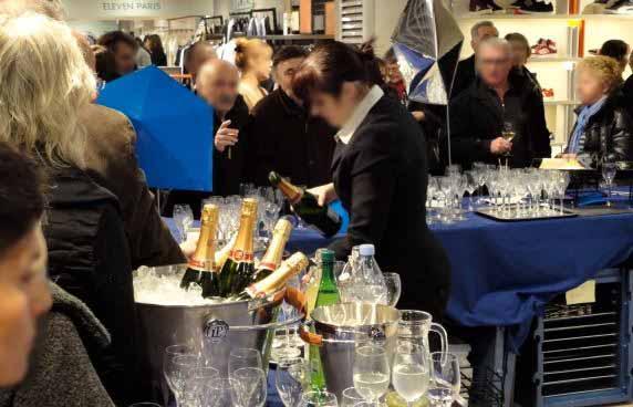 inauguration galerie lafayette