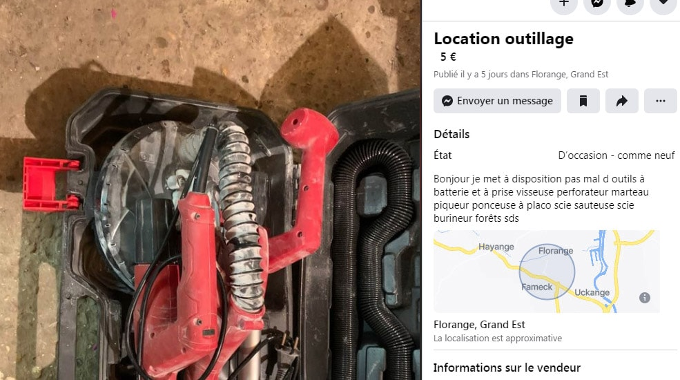 Location outils via Facebook