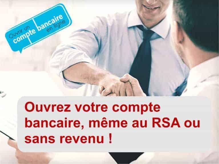 ouvrir compte banque RSA sans revenu