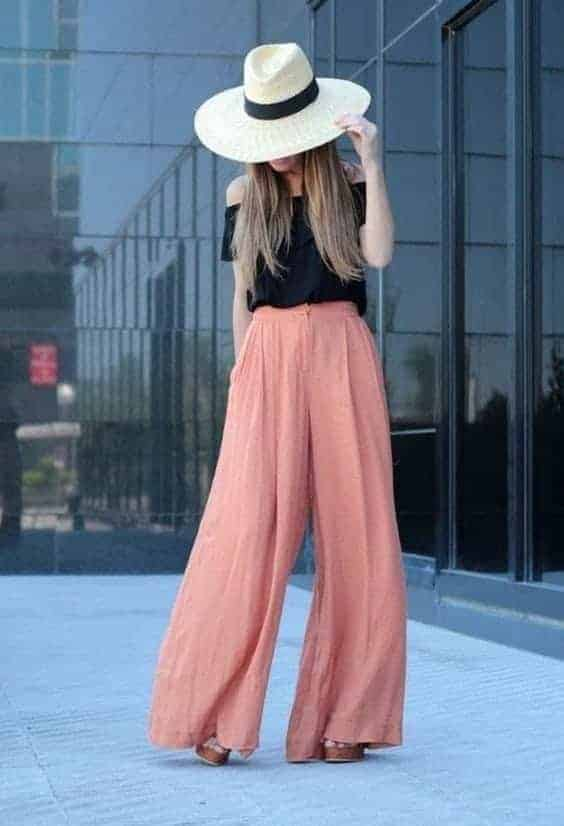 pantalon large boheme chic