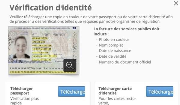 Verification informations perso broker
