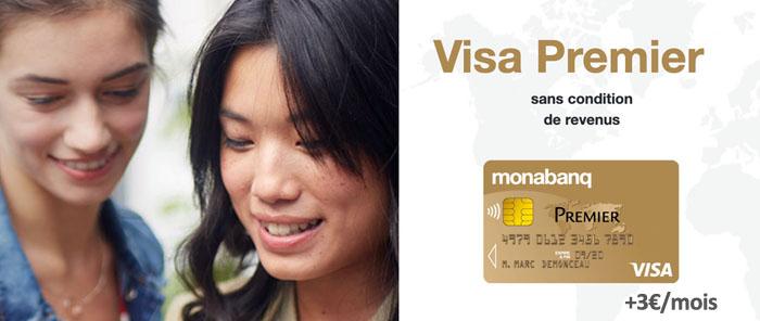 Visa premier Monabanq en supplément